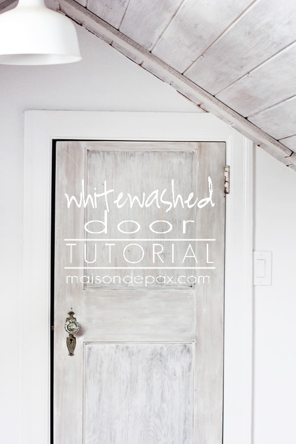 How to Whitewash a Door