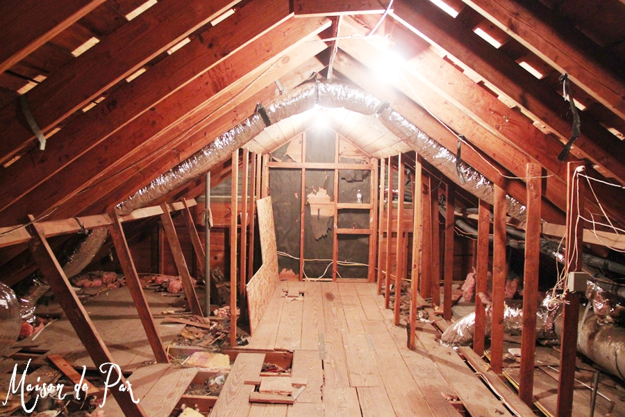 attic before - Maison de Pax
