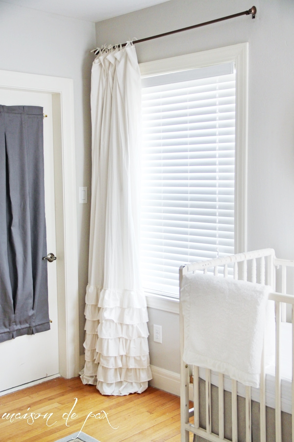 Easiest tutorial ever for converting regular curtains into blackout curtains with NO SEWING at maisondepax.com