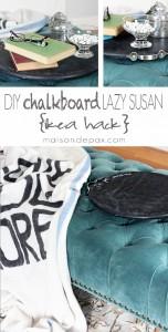 DIY Chalkboard Lazy Susan