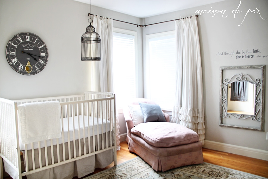 Gorgeous, subtle, mostly neutral nursery with touches of French and farmhouse charm - Maison de Pax