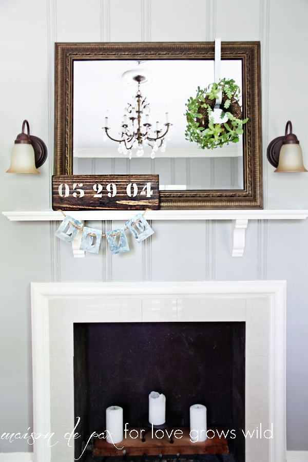 Painted Fireplace and faux mantle - Maison de Pax