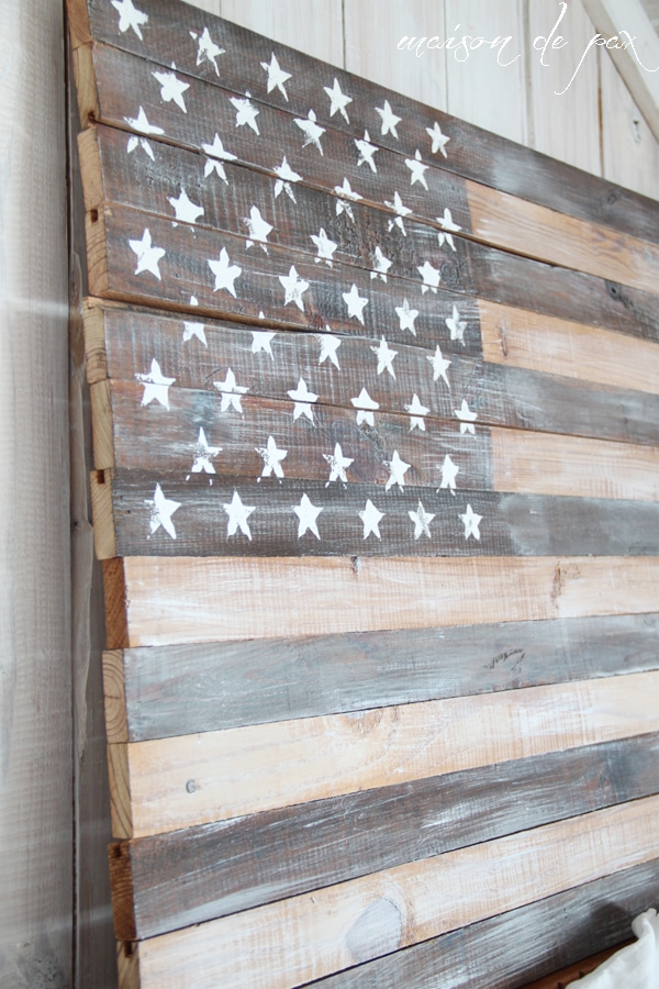 Close-up of an American Flag- Maison de Pax