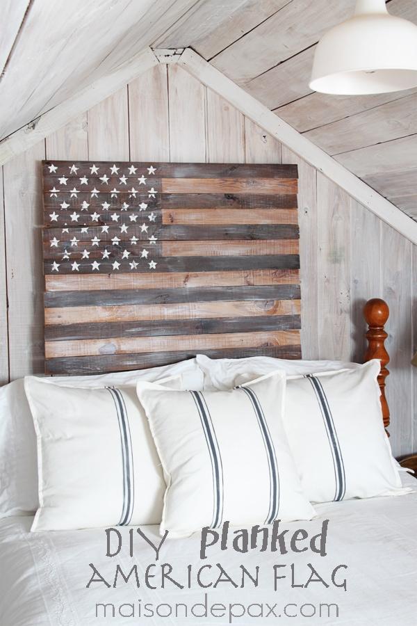 DIY planked American flag- Maison de Pax