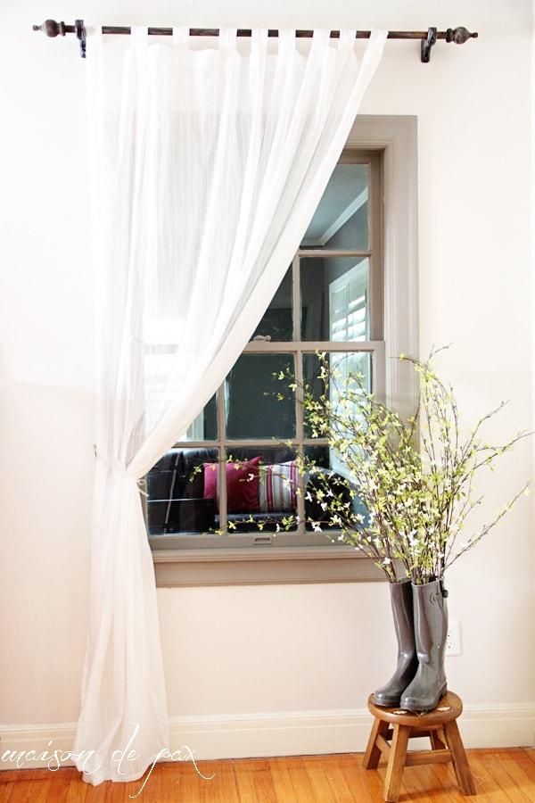 Window treatment- Maison de Pax