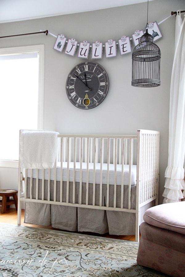 Simple gray and white nursery- Maison de Pax