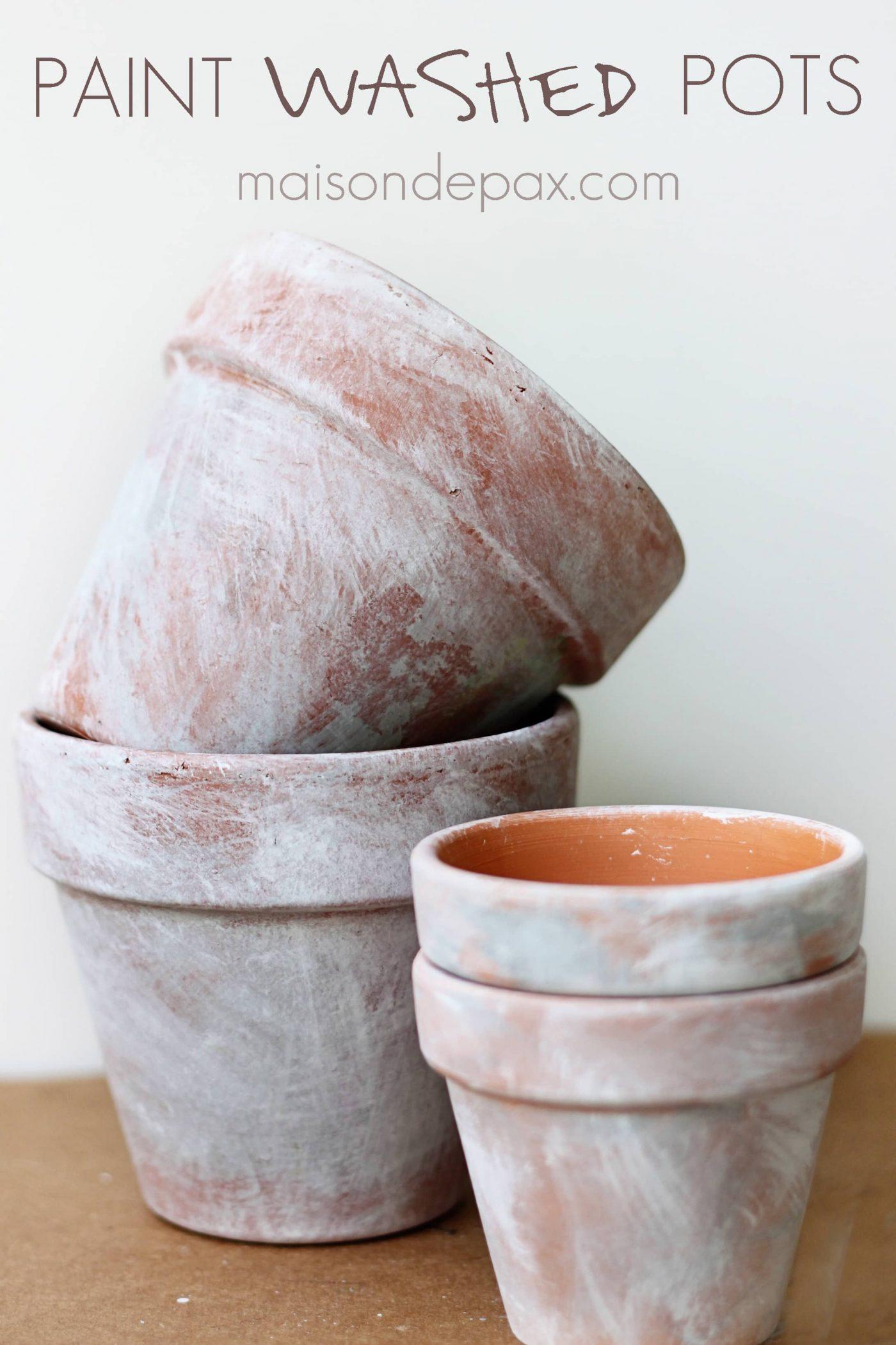 diy aged terra cotta pots. Black Bedroom Furniture Sets. Home Design Ideas