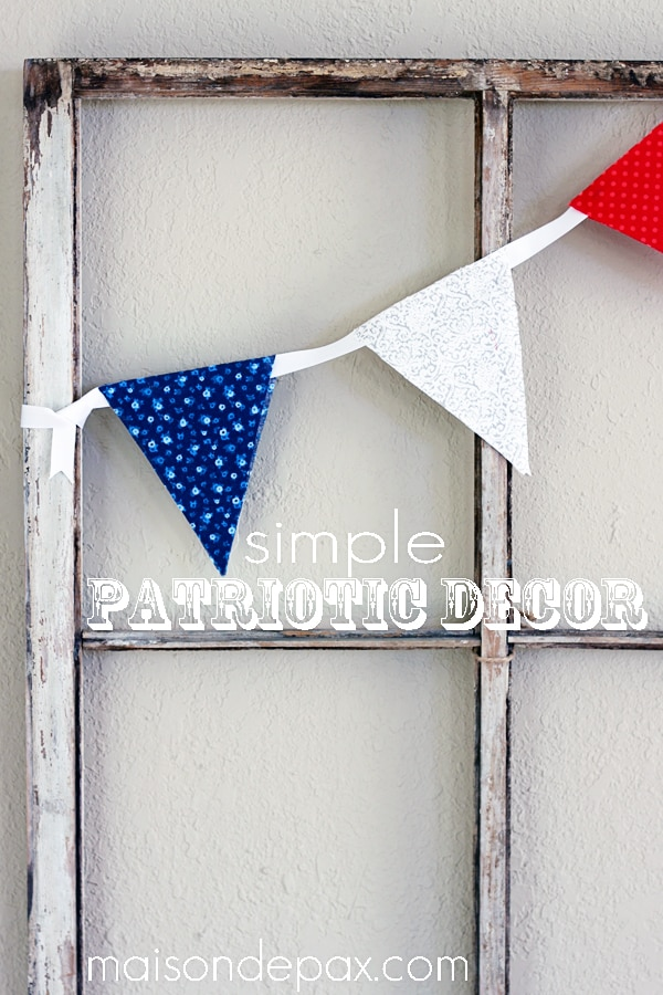 Brilliant, easy, simple DIY patriotic decor at maisondepax.com