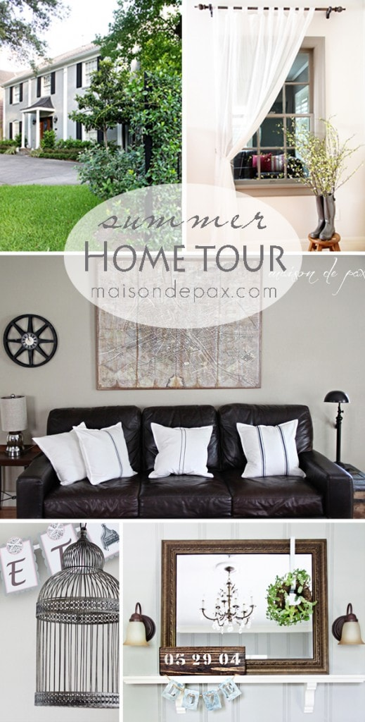 Beautiful, simple, traditional summer home tour at maisondepax.com