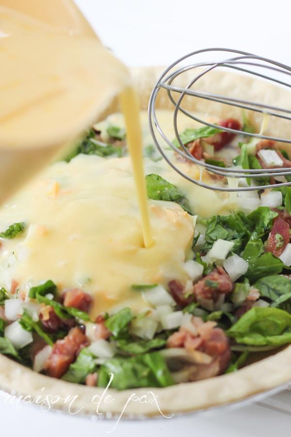 Easy ham quiche- Maison de Pax