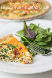 {Spinach} Ham and Cheese Quiche