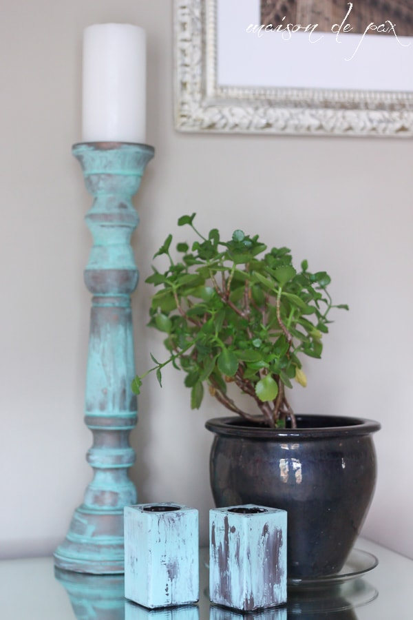 Candlesticks with Patina- Maison de Pax