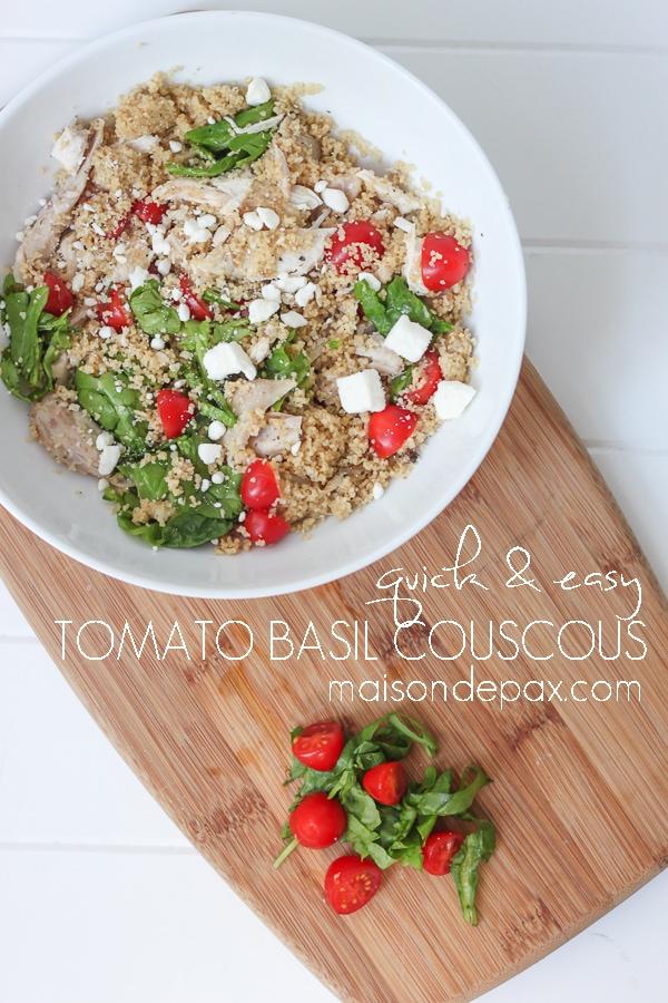Tomato Basil Couscous- Maison de Pax
