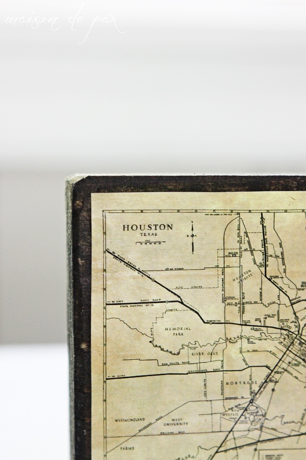 create your own rustic, antique map with this tutorial at maisondepax.com