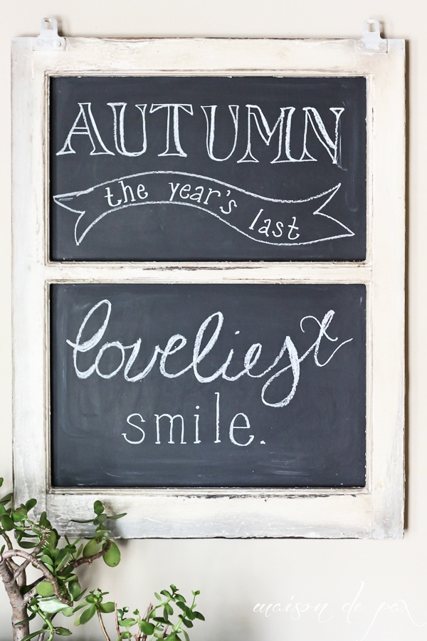 Fall Chalkboard Sign- Maison de Pax