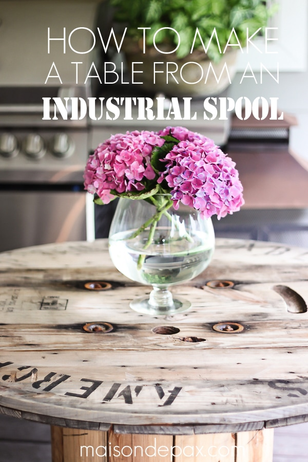 Industrial spool table- Maison de Pax