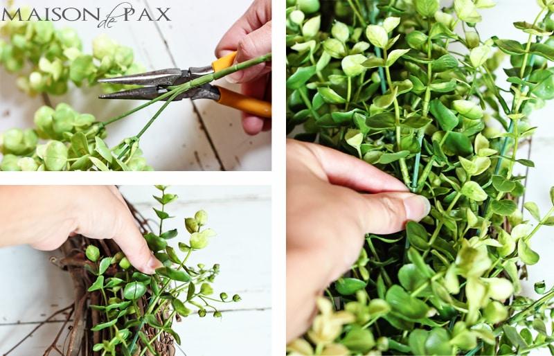 Easy eucalyptus wreath- Maison de Pax