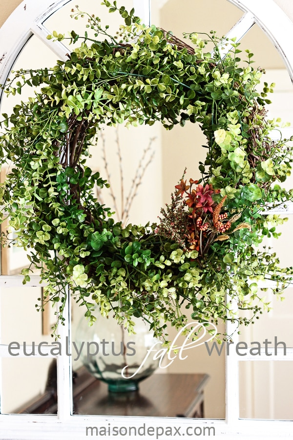 Fall eucalyptus wreath- Maison de Pax