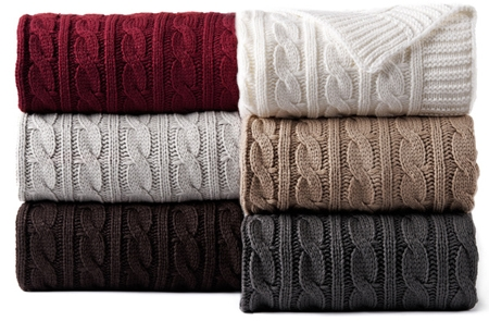 Cable Knit Throws - Maison de Pax