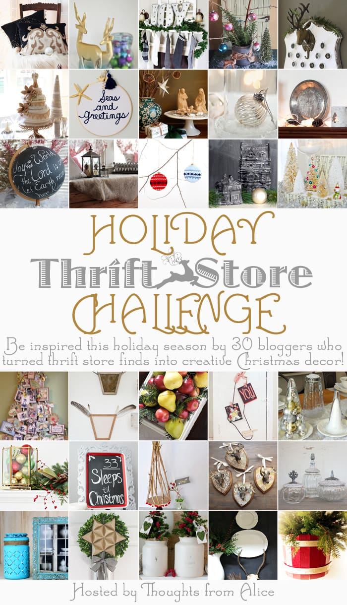 30 incredible ideas to create gorgeous Christmas decor from thrift store items - Maison de Pax