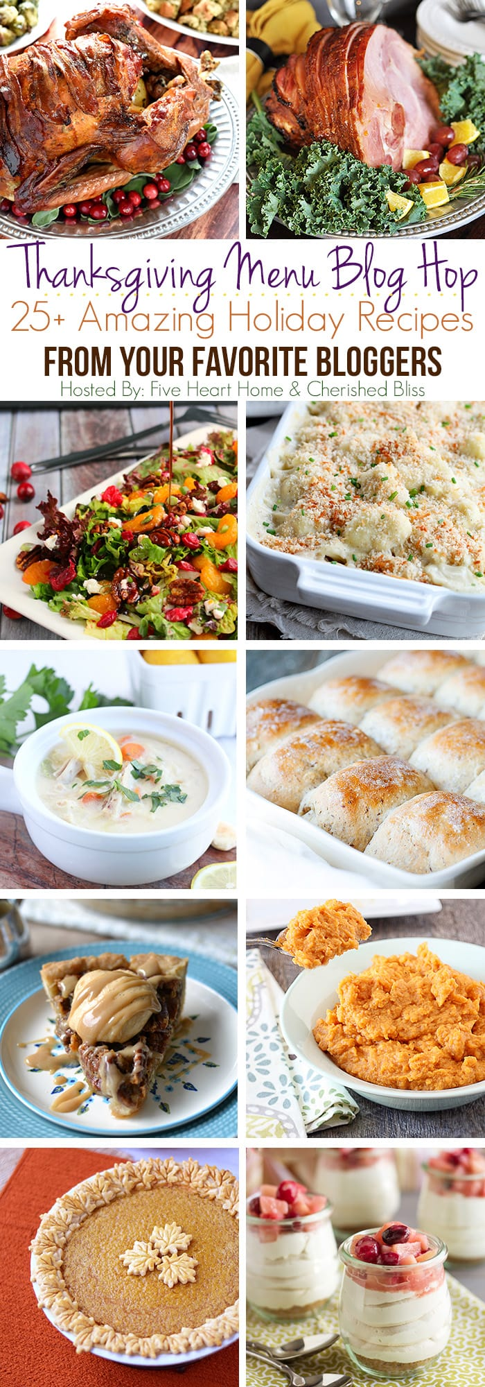 A full Thanksgiving menu right at your fingertips! Amazing recipes from turkey to dessert  via maisondepax.com #fall #recipe