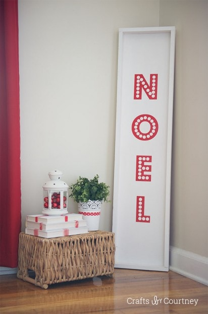 Noel Pottery Barn Knock Off Sign