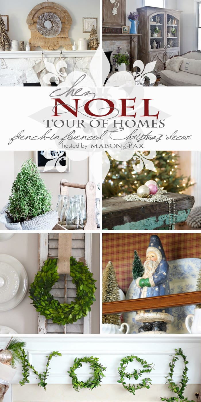 7 homes filled with inspiration for French Christmas decor #holiday #decorating #Christmas