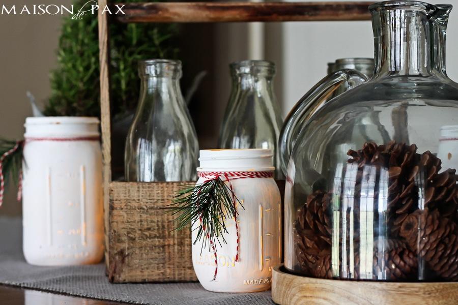 Mason jar luminaries - Maison de Pax