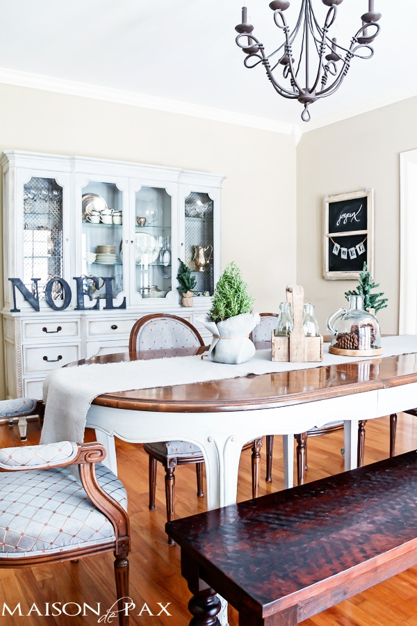 French country decorated dining room- Maison de Pax