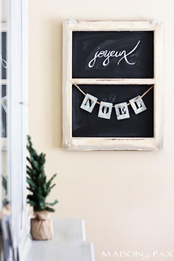 Joyeux Noel Christmas Sign- Maison de Pax