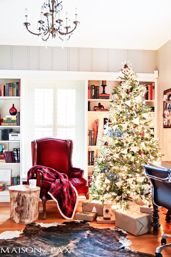 Red Plaid Living Room- Maison de Pax