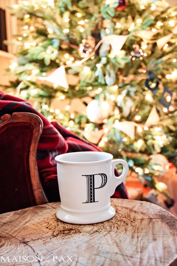 Christmas Home Tour with Anthroplogie Mug- Maison de Pax