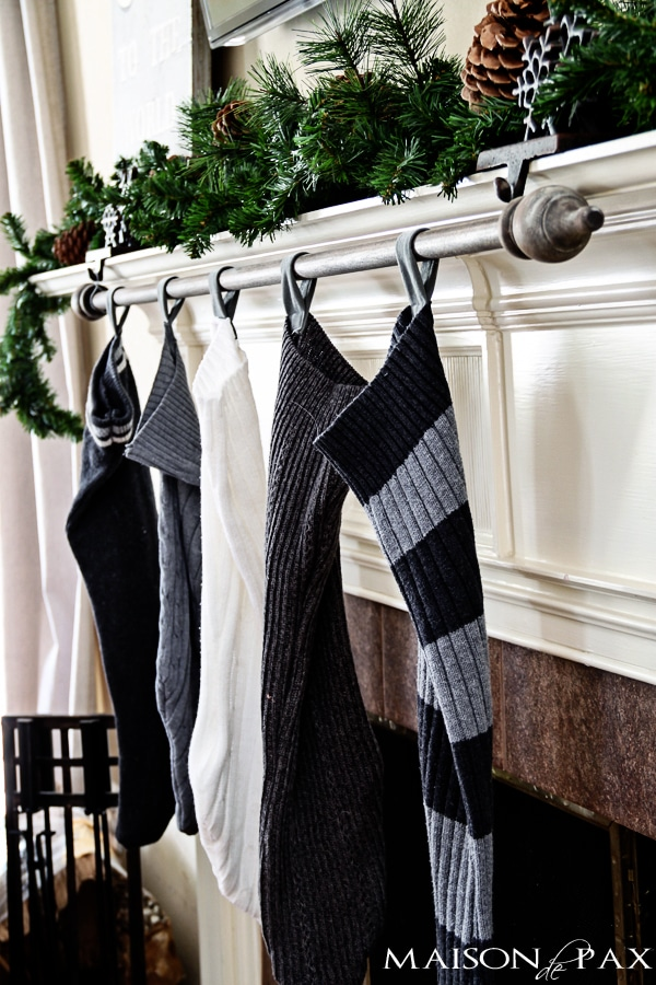 Cheap and easy DIY stocking holder- Maison de Pax