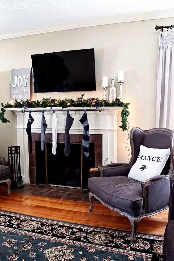 Easy DIY stocking holder- Maison de Pax