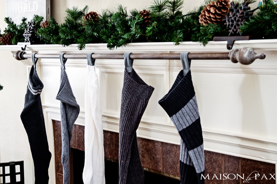 DIY stocking holder-  Maison de Pax