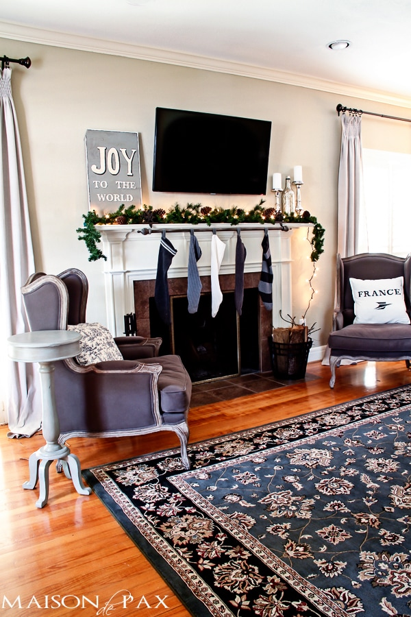 Decorated Christmas Mantle-  Maison de Pax
