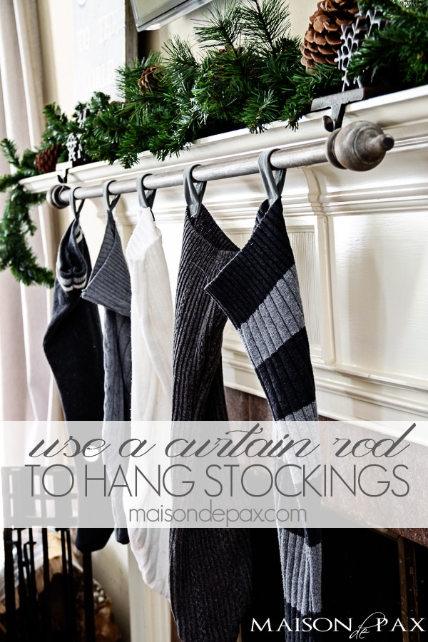Curtain rod to hang stockings- Maison de Pax