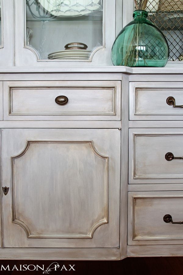 Chalk Painted Dining Room Hutch- Maison de Pax
