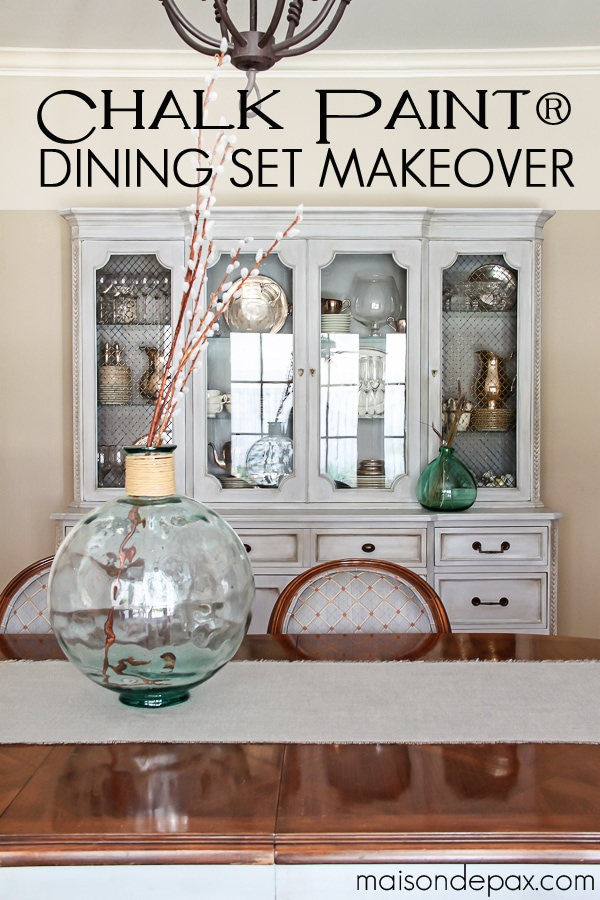 Chalk Paint Dining Set Makeover- Maison de Pax