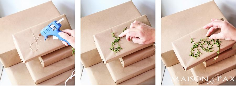 Great gift wrap ideas!  Simple, natural, and gorgeous... via maisondepax.com #hoilday #Christmas #present