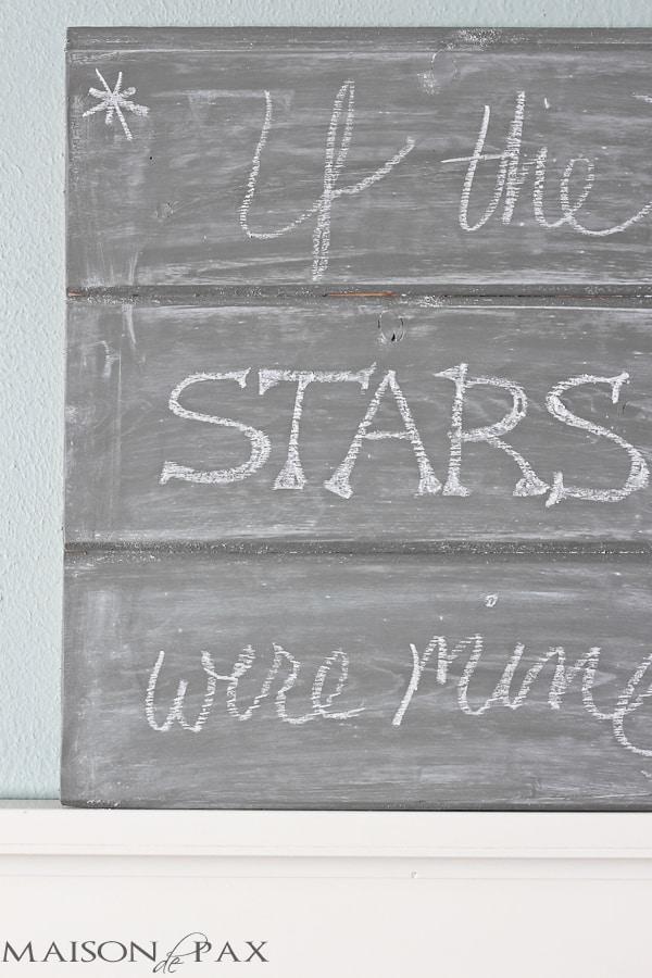 Gray chalkboard - so cute! maisondepax.com #diy #tutorial
