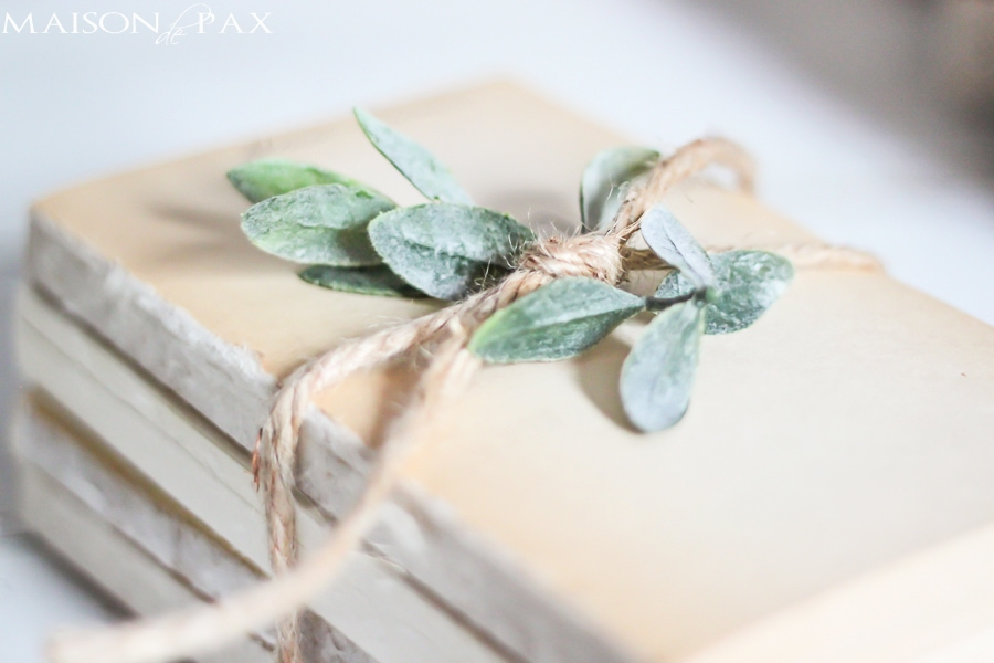 So pretty! Great idea for old, thrift store books   MaisondePax.com