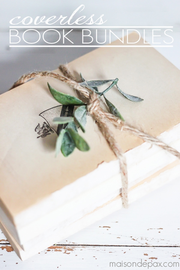 So pretty! Great idea for old, thrift store books | MaisondePax.com