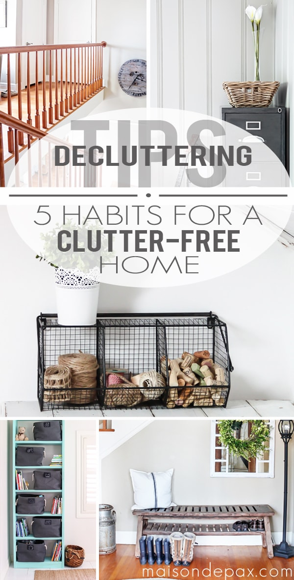 decluttering tips for your home- Maison de Pax