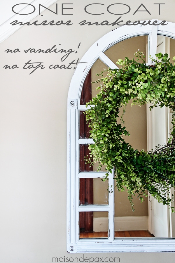 This looks so easy! Chalk paint and a simple distressing technique via maisondepax.com #diy #tutorial