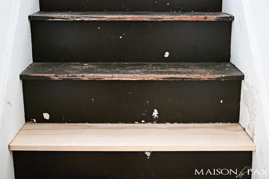 Rustic old attic stairs- Maison de Pax
