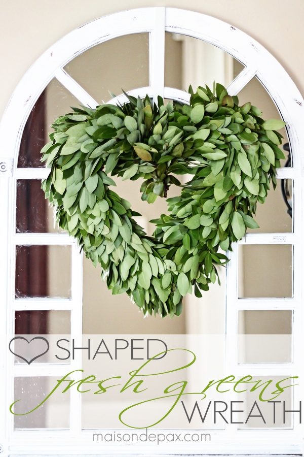 Heart-shaped wreath: gorgeous, subtle Valentine's Day touch | maisondepax.com
