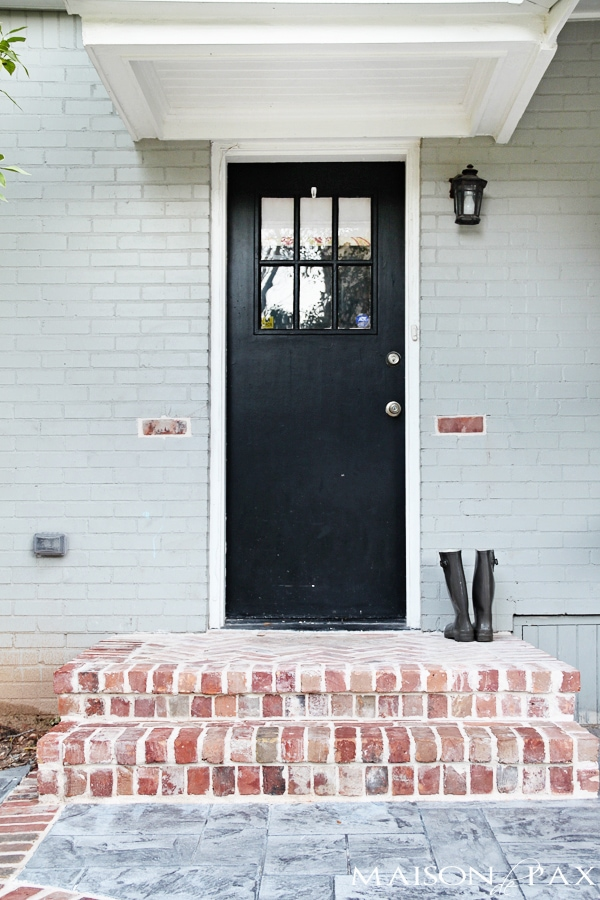 stamped concrete and antiqued brick patio | maisondepax.com
