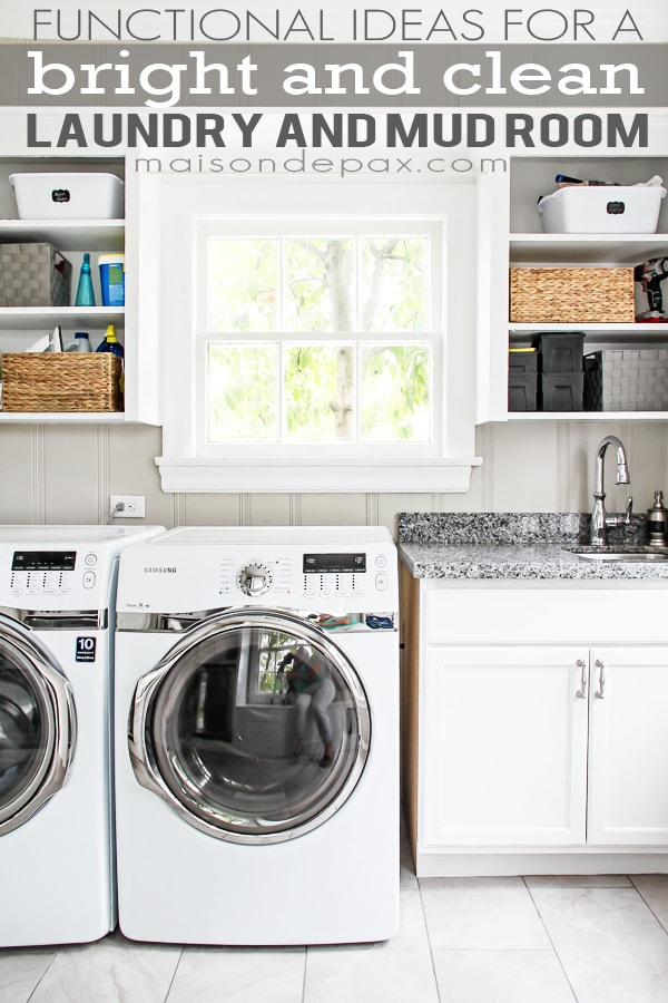 Functional ideas for a multipurpose laundry and mud room | maisondepax.com