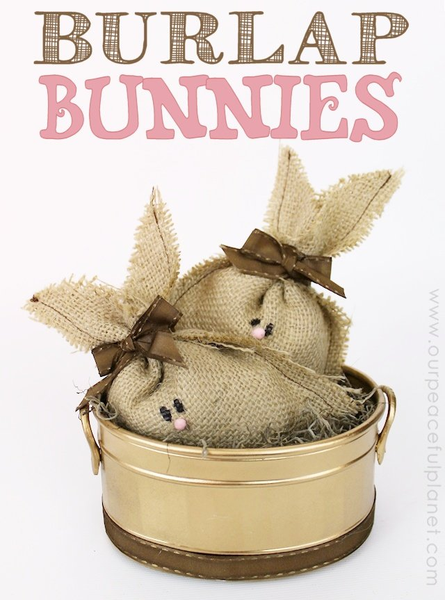 precious burlap bunny project